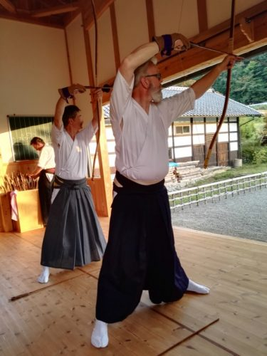 le pas de tir du kyudojo de la montagne