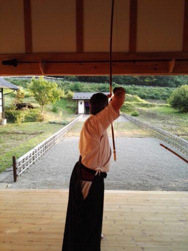 le pas de tir du kyudojo