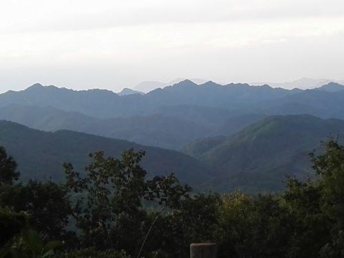 matin brumeux dans la montagne